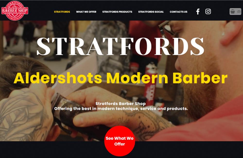 Jamudesign Portfolio Stratfords Barber Shop
